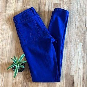 Calvin Klein Blue Jeggings (size 27/4)